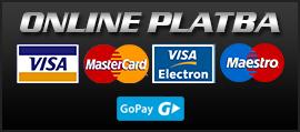 Jednoduchá možnosť úhrady platobnou kartou cez bránu GOPAY.